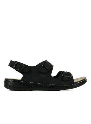 Hammer Jack Mason Hakiki Deri Erkek Terlik / Sandalet 420 S103.006-M Siyah